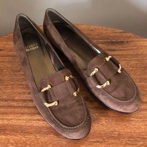 Stuart Weitzman Suede Wedge Loafers